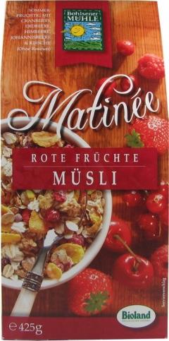 Musli bio Matinee cu fructe rosii