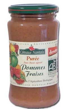 Piure fructe bio fragi - mere