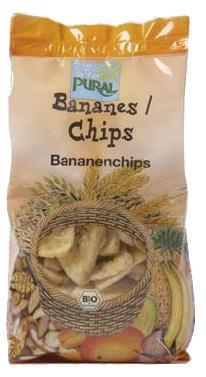 Fructe bio deshidratate - banane chips