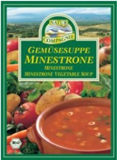 Supa bio de legume Minestrone, plic (2 portii)