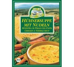 Supa bio de pui cu taitei, plic (2 portii)